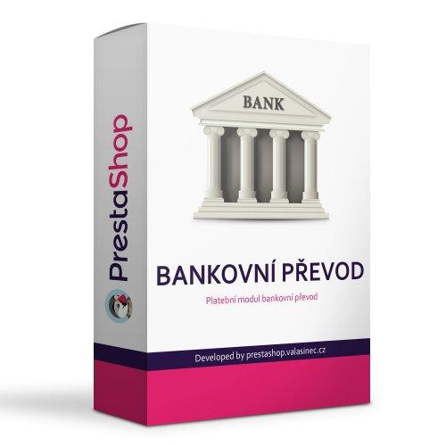 Bankovní převod s více účty, QR platbou a vazbou na dopravce - PRESTASHOP 1.6