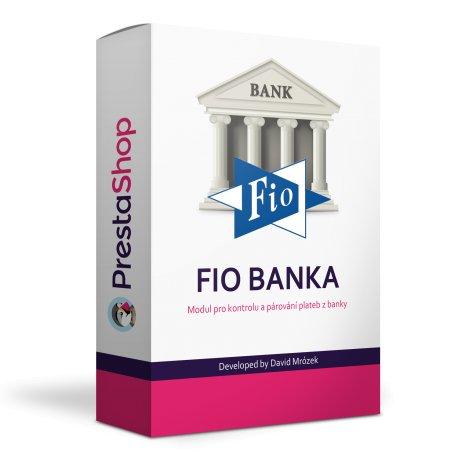 Fio banka modul na kontrolu a párování plateb - PRESTASHOP 1.5, 1.6, 1.7