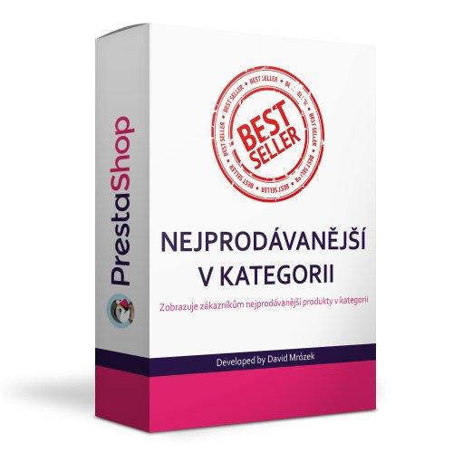Nejprodávanější produkty v kategorii - modul PRESTASHOP