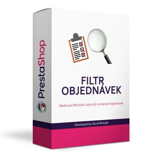 Filtr  objednávek v administraci modul