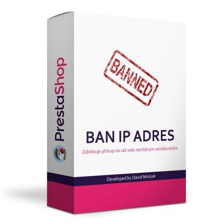 Ban IP modul - zablokování IP adresy - PRESTASHOP