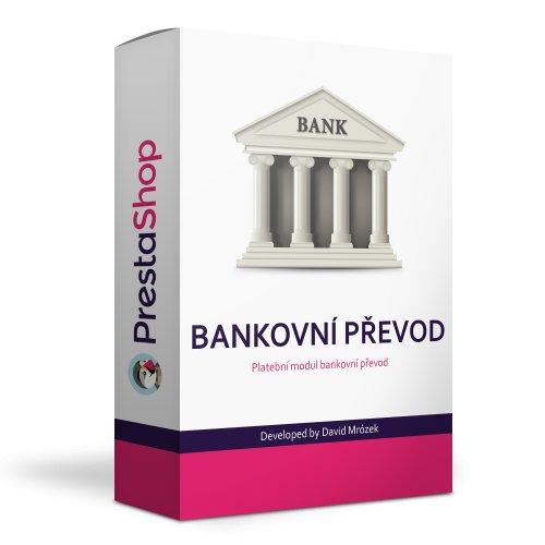 Bankovní převod s více účty, QR platbou a vazbou na dopravce