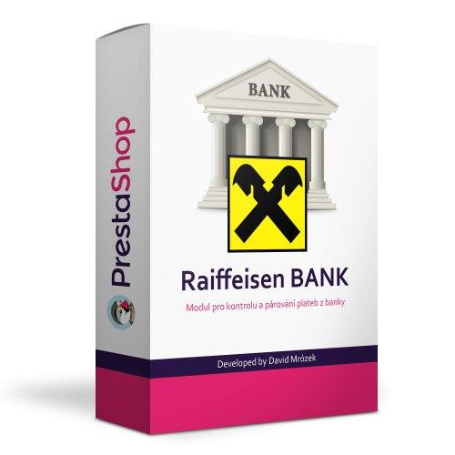 Raiffeisen bank modul na kontrolu a párování plateb - PRESTASHOP