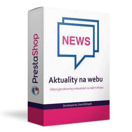 Modul Aktuality na webu / Krátké zprávy - PrestaShop 1.6, 1.7