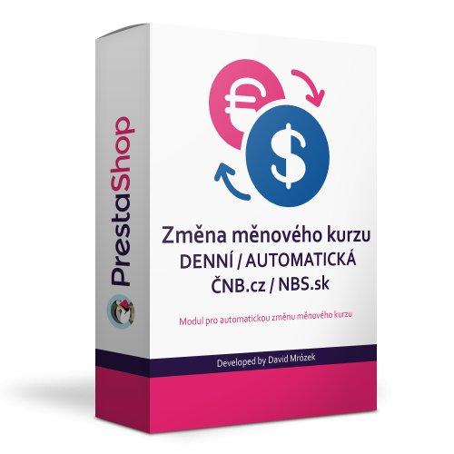 Automatická změna měnového kurzu ČNB.cz / NBS.sk - Modul pro PrestaShop