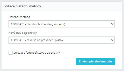 Editácia platobné metódy v objednávke PrestaShop