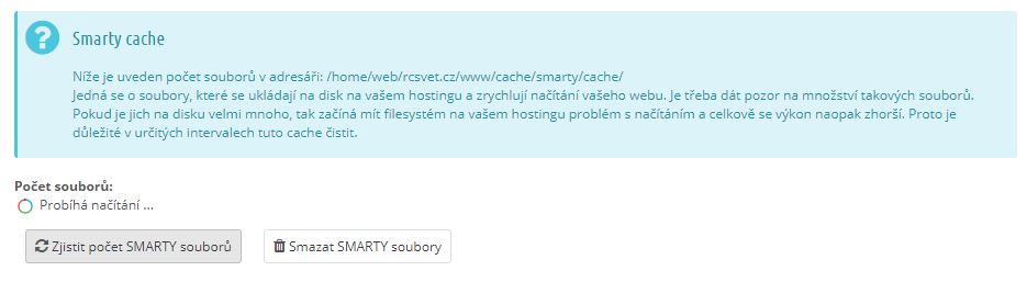 Soubory smarty cache