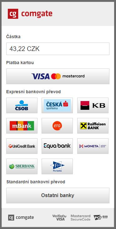 ComGate pro PrestaShop - vyvolání platby