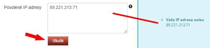ComGate - vyplnění IP adresy vašeho obchodu