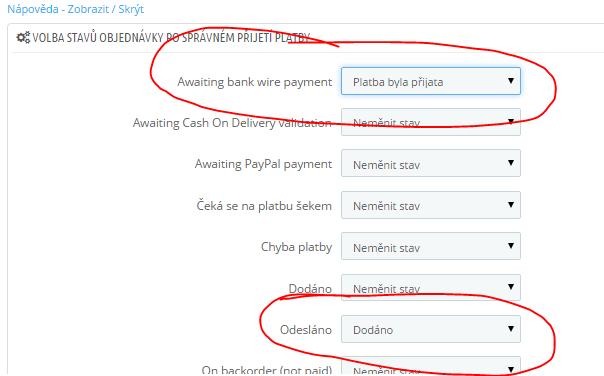 Fio Banka - modul kontrola plateb PRESTASHOP 1.6 - parování plateb