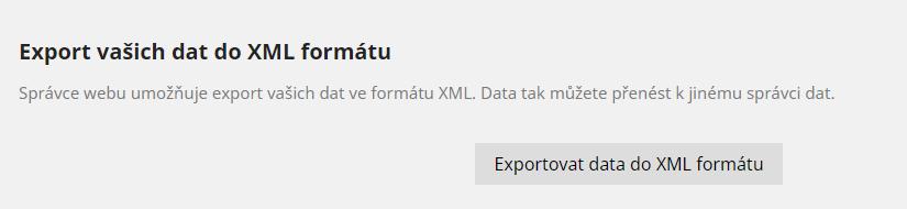 Export dat do XML souboru