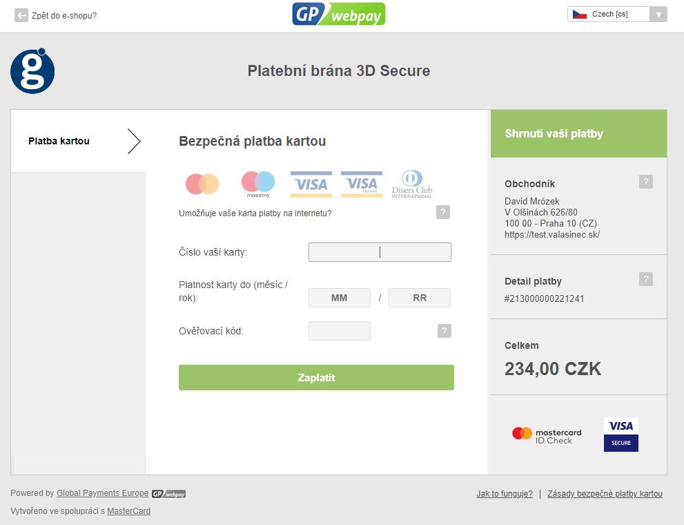 GpWebPay pro PrestaShop -platební brána