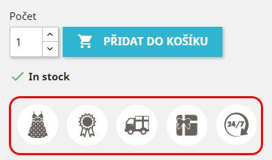 Grafické štítky k produktu