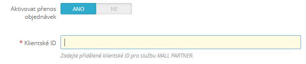 Jednoduché nastavenie prenosov objednávok