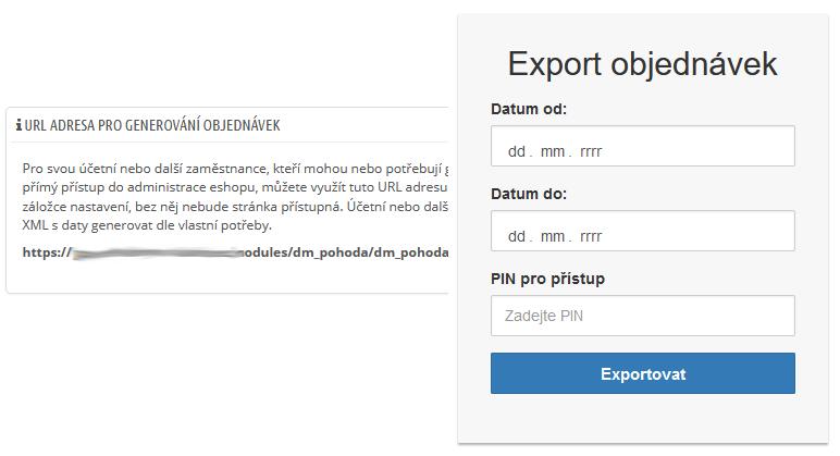 Tajná URL adresa pro účetní